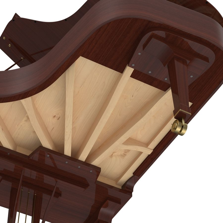 Grand Piano royalty-free 3d model - Preview no. 33