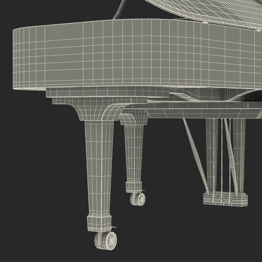 Grand Piano royalty-free 3d model - Preview no. 55