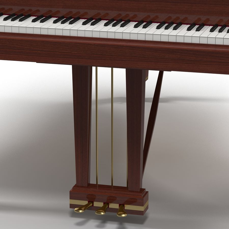 Grand Piano royalty-free 3d model - Preview no. 21