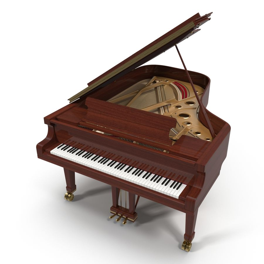 Grand Piano royalty-free 3d model - Preview no. 2
