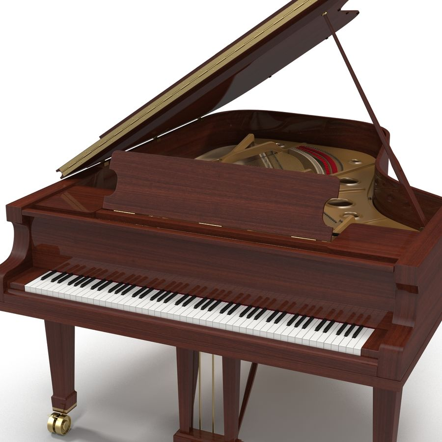 Grand Piano royalty-free 3d model - Preview no. 16