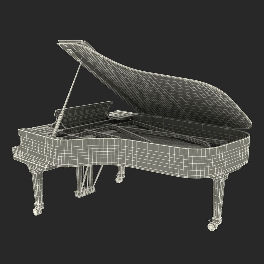 Grand Piano royalty-free 3d model - Preview no. 45