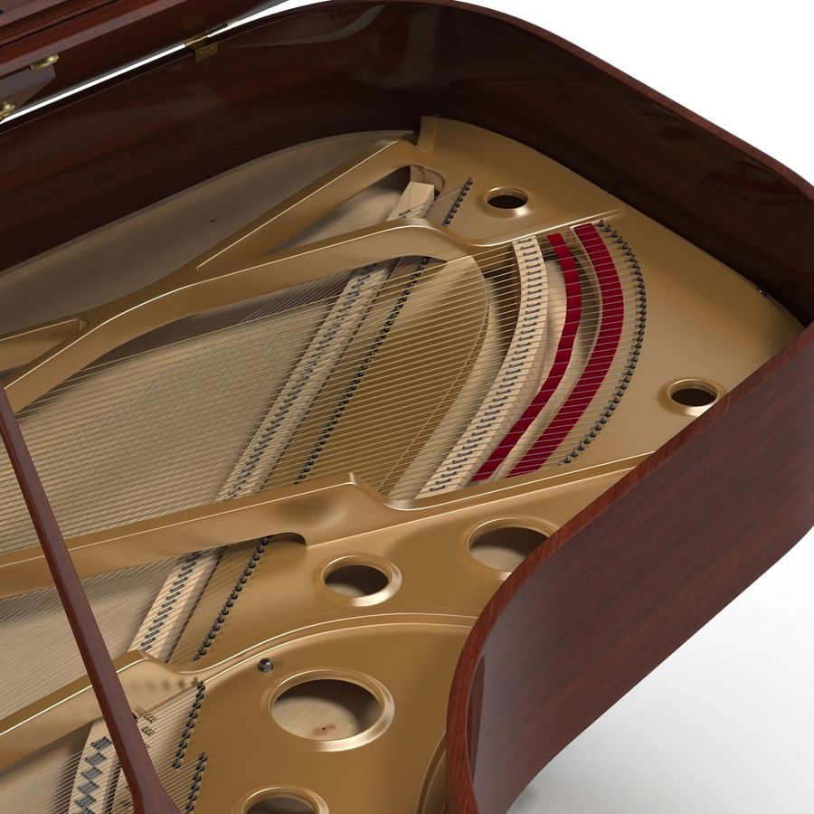 Grand Piano royalty-free 3d model - Preview no. 24