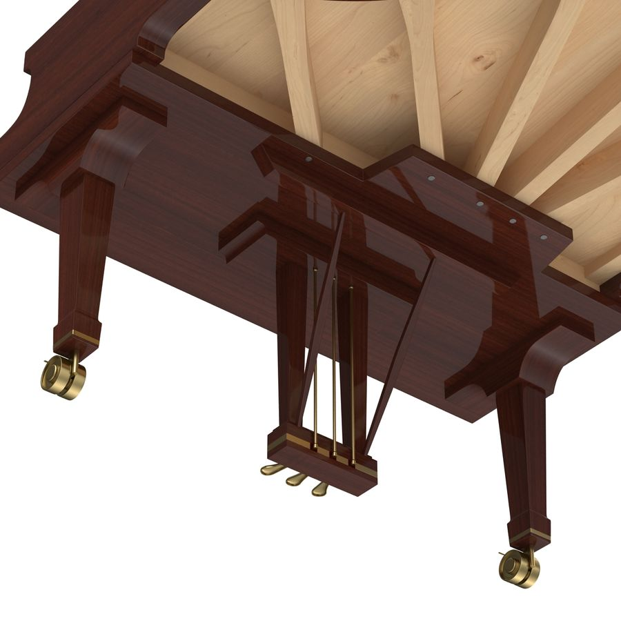 Grand Piano royalty-free 3d model - Preview no. 34