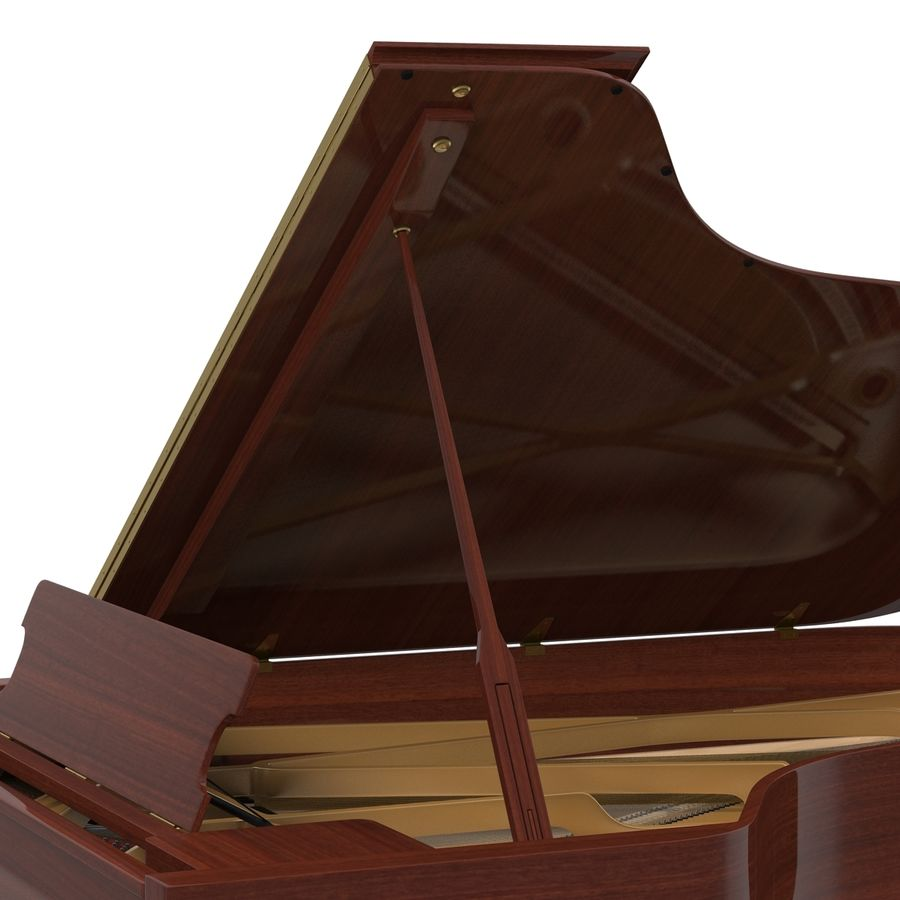 Grand Piano royalty-free 3d model - Preview no. 27