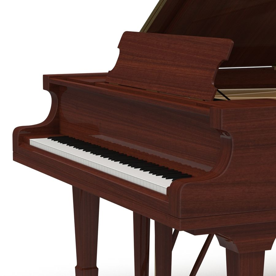 Grand Piano royalty-free 3d model - Preview no. 19