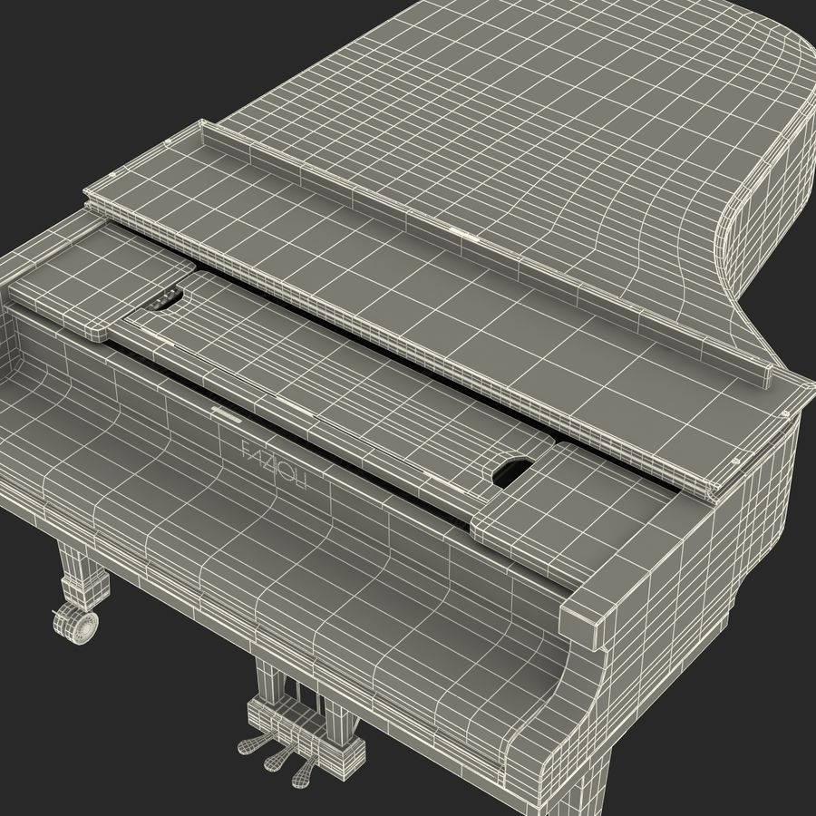 Grand Piano royalty-free 3d model - Preview no. 56