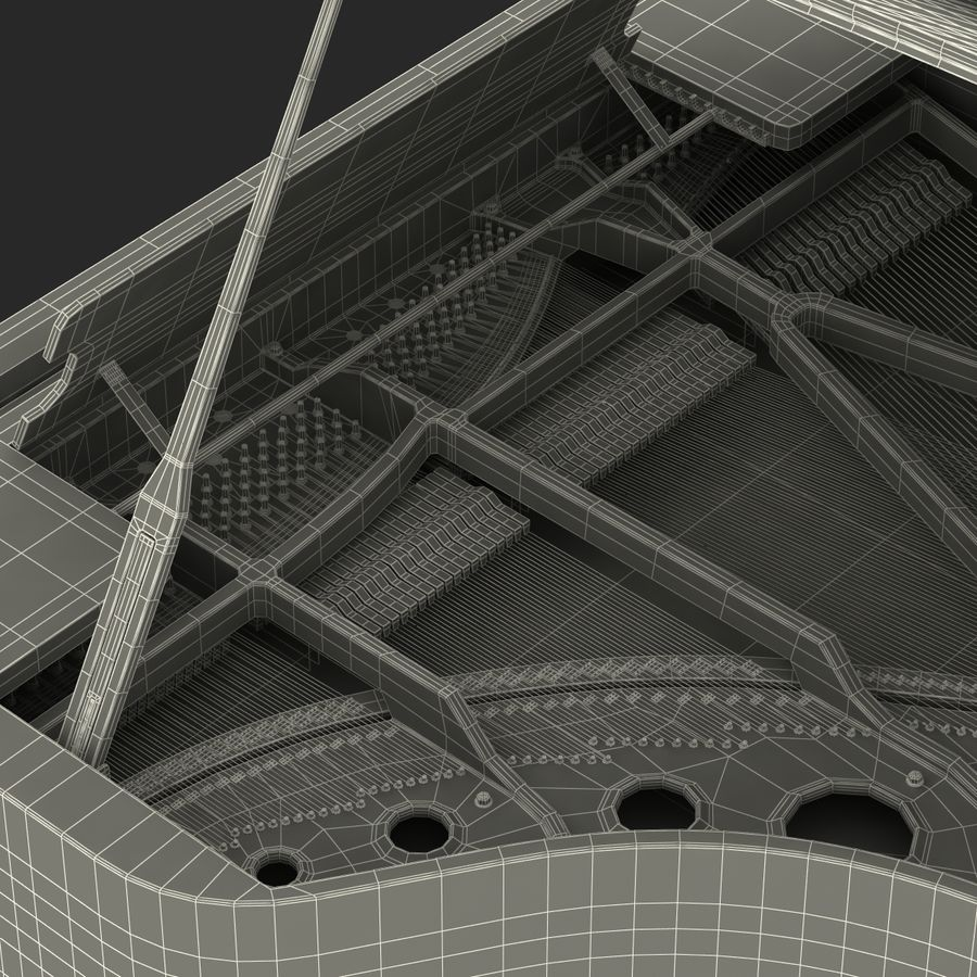 Grand Piano royalty-free 3d model - Preview no. 53