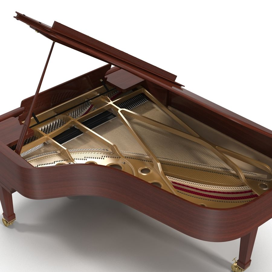 Grand Piano royalty-free 3d model - Preview no. 17