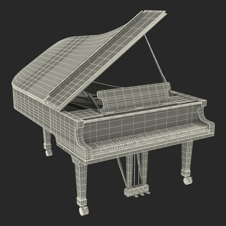 Grand Piano royalty-free 3d model - Preview no. 43