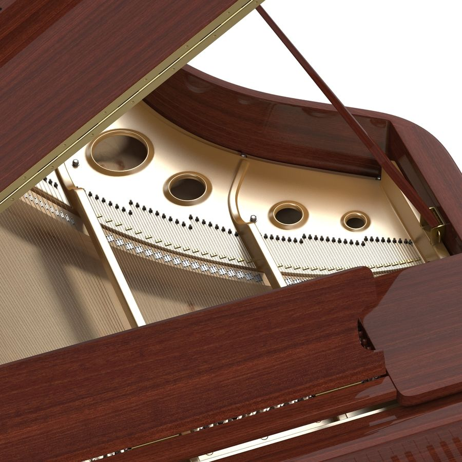Grand Piano royalty-free 3d model - Preview no. 25