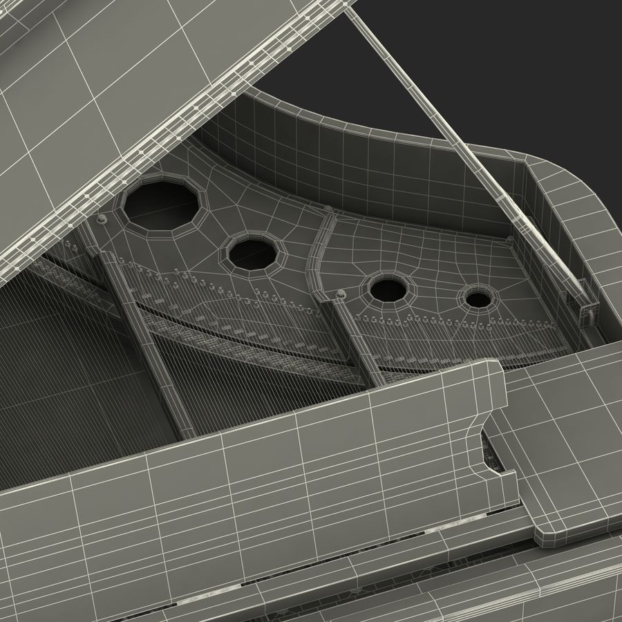 Grand Piano royalty-free 3d model - Preview no. 54