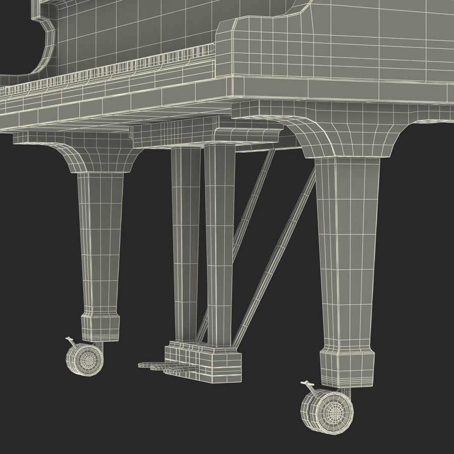 Grand Piano royalty-free 3d model - Preview no. 52