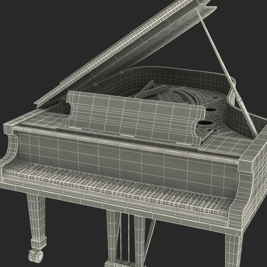 Grand Piano royalty-free 3d model - Preview no. 48