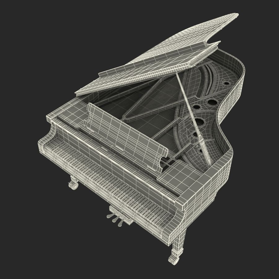 Grand Piano royalty-free 3d model - Preview no. 42
