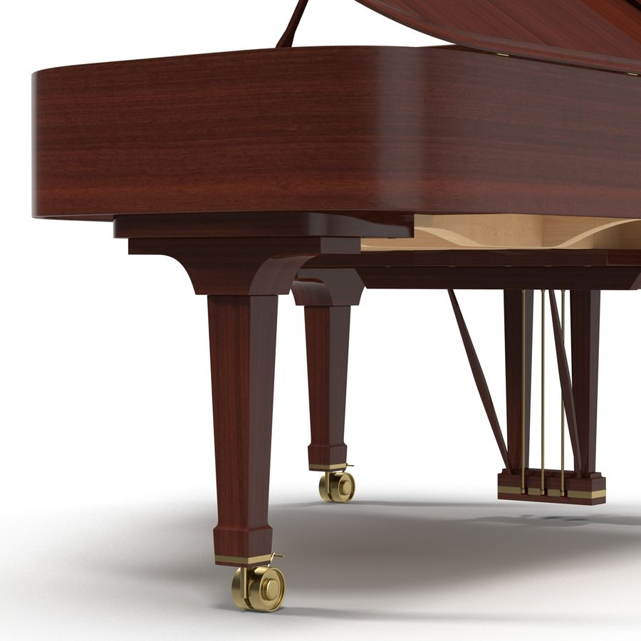 Grand Piano royalty-free 3d model - Preview no. 30