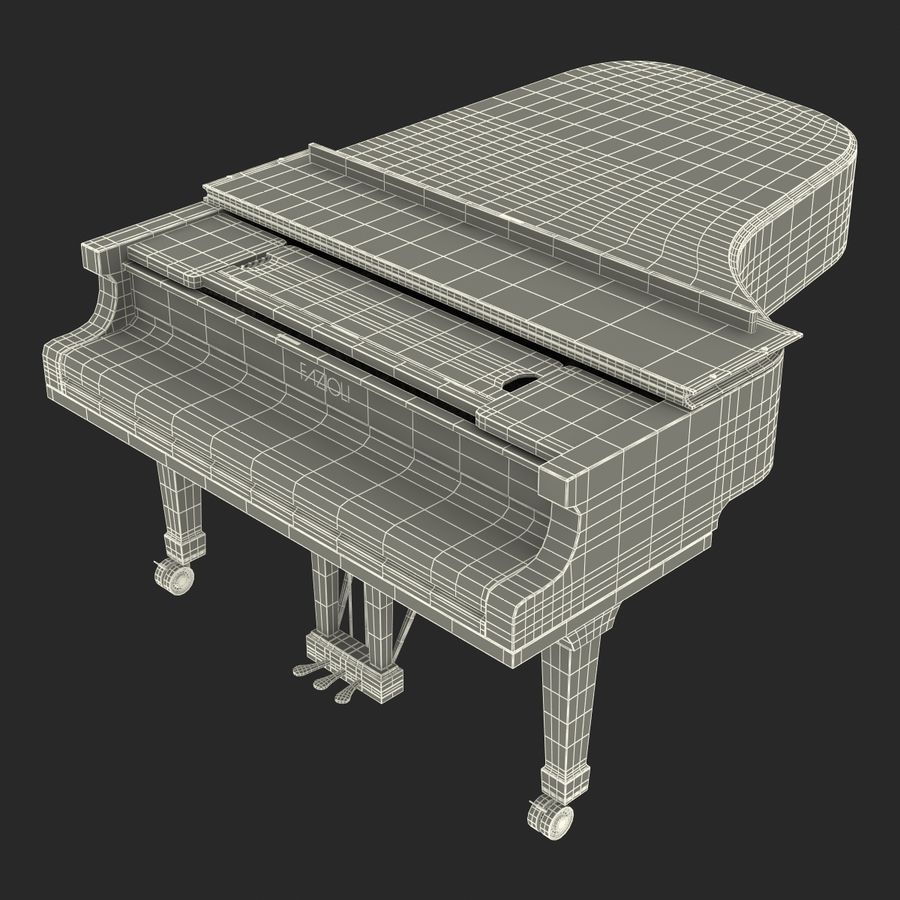 Grand Piano royalty-free 3d model - Preview no. 46