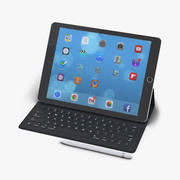 iPad Pro with PencilおよびSmart Keyboard 3D Model 3d model