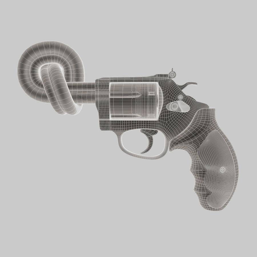 玛格南357号机枪 royalty-free 3d model - Preview no. 11