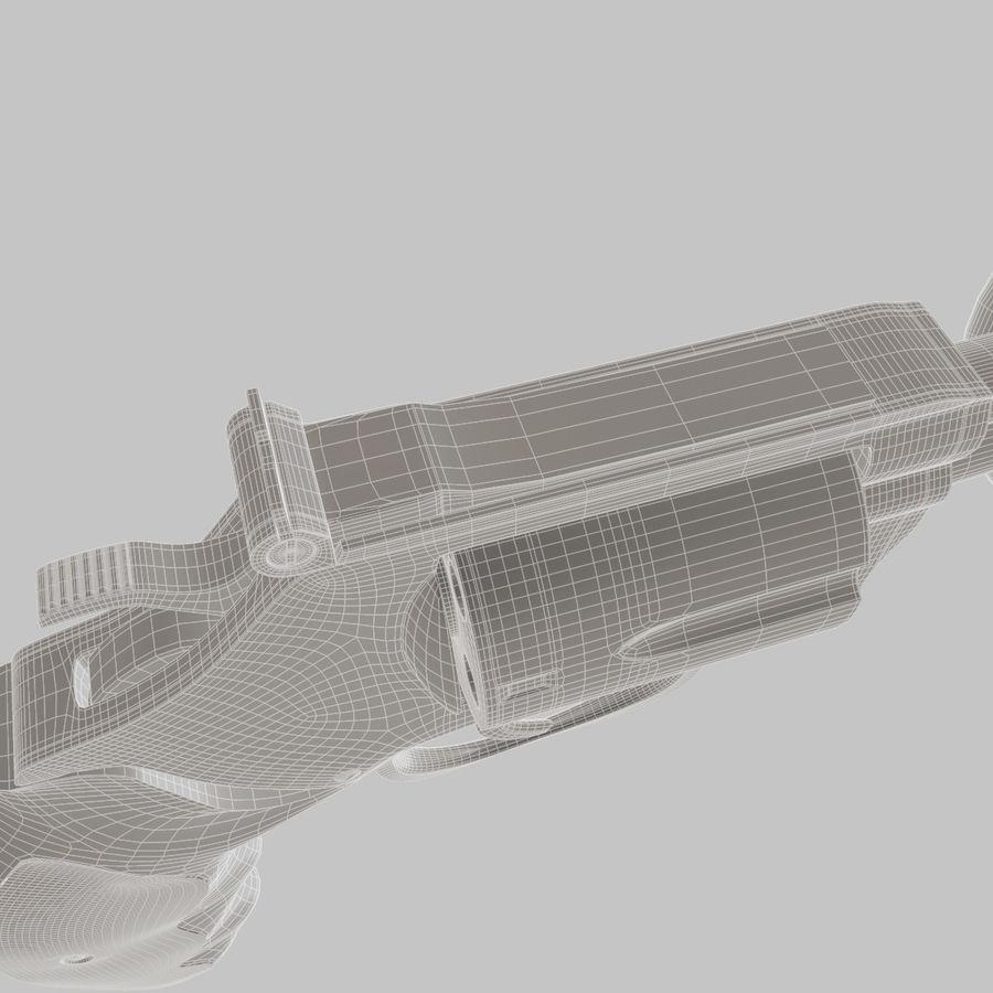 玛格南357号机枪 royalty-free 3d model - Preview no. 14