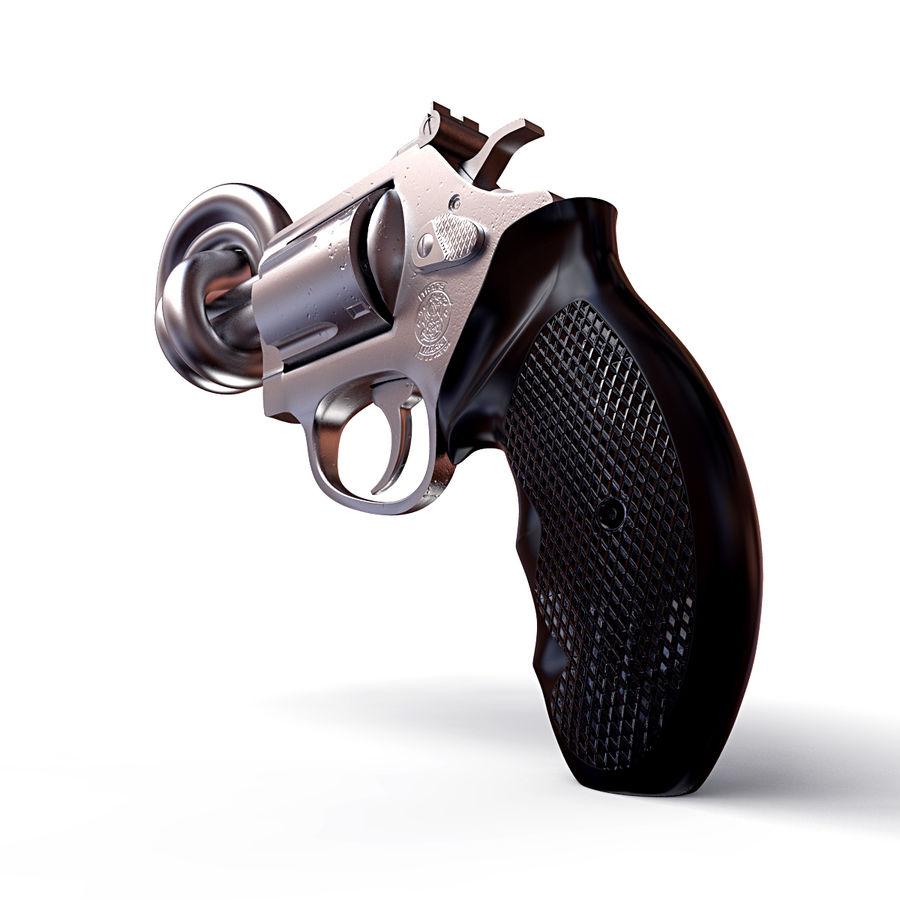 玛格南357号机枪 royalty-free 3d model - Preview no. 4