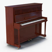 Upright Piano Rigged 3d model