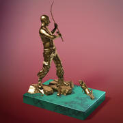 "statuette ""Putin fisherman"" 3d model"