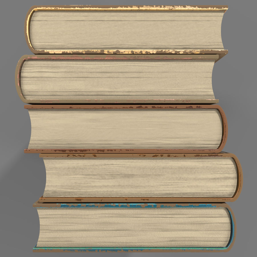Arabian Books royalty-free 3d model - Preview no. 5