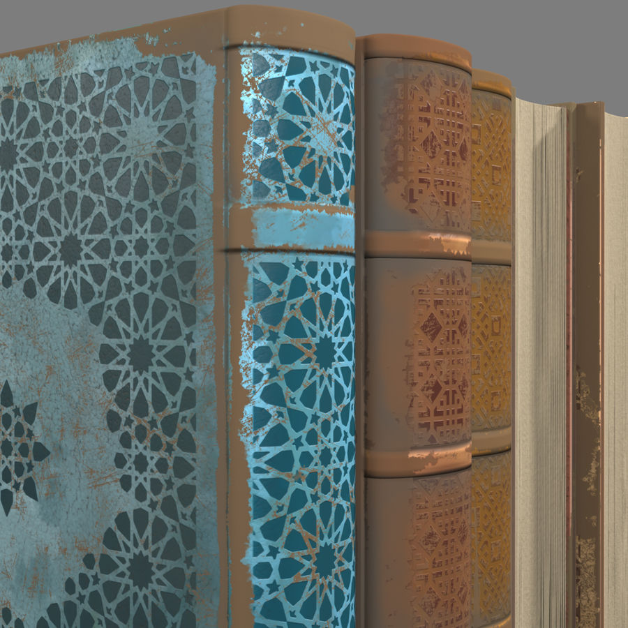 Arabian Books royalty-free 3d model - Preview no. 3