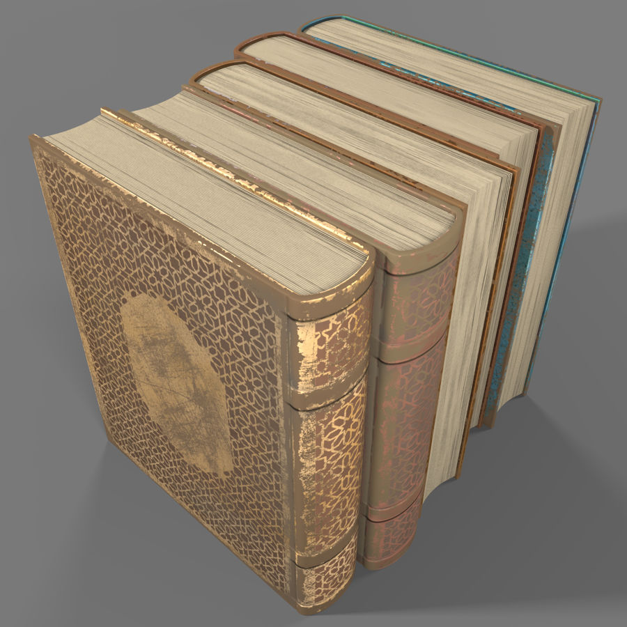 Arabian Books royalty-free 3d model - Preview no. 7