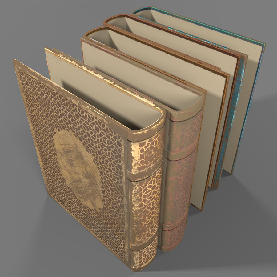 Arabian Books royalty-free 3d model - Preview no. 8