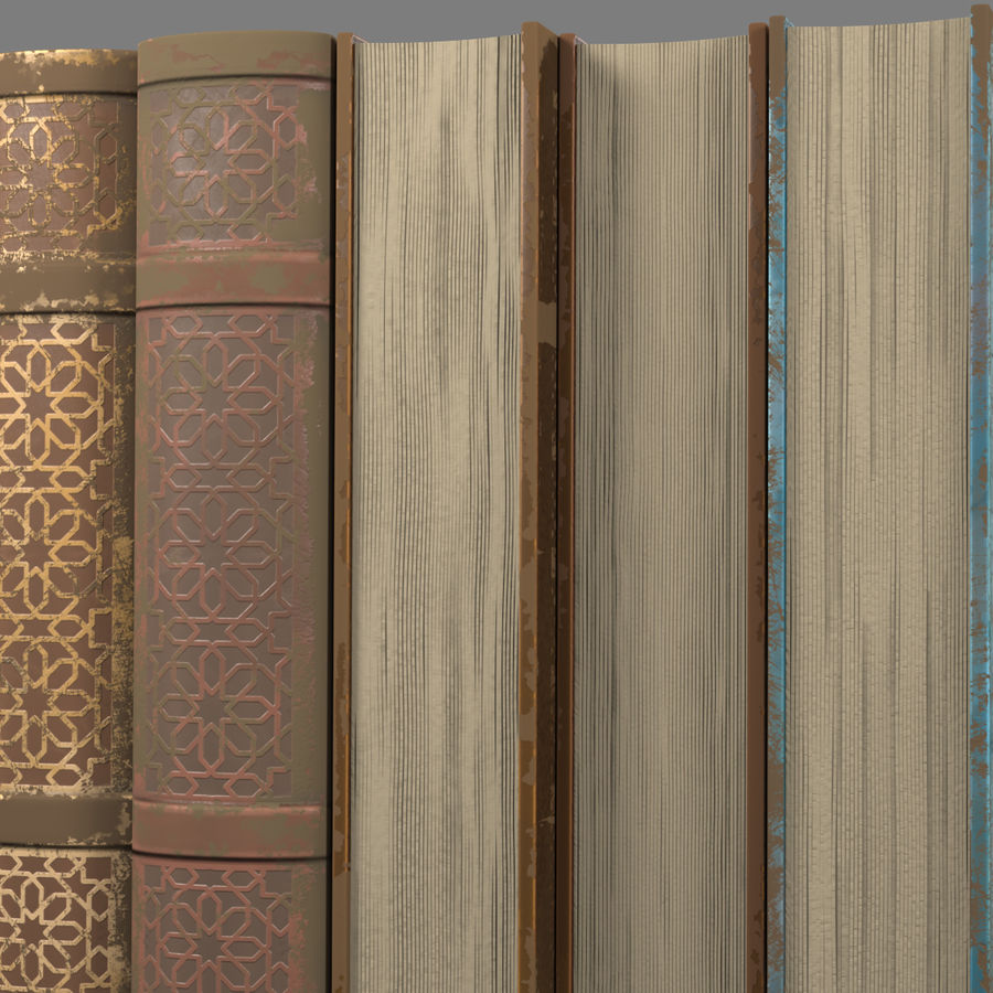 Arabian Books royalty-free 3d model - Preview no. 4