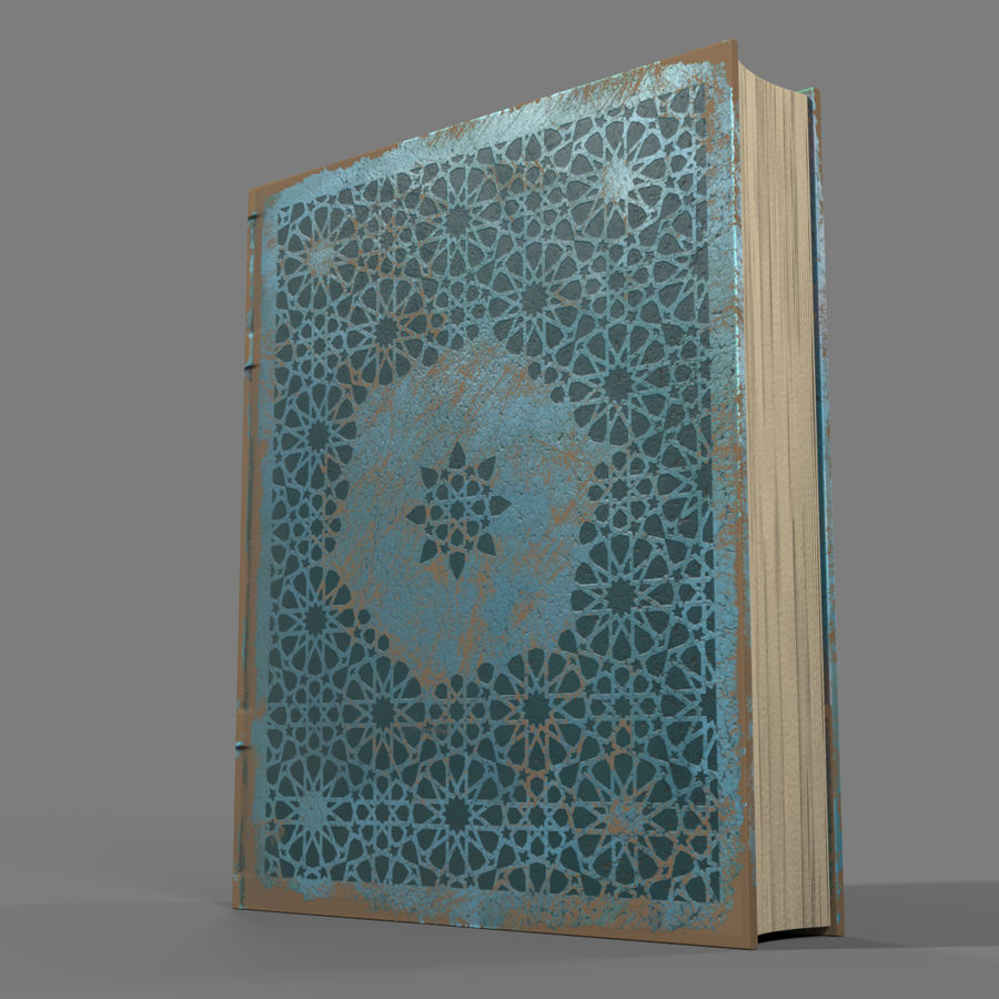 Arabian Books royalty-free 3d model - Preview no. 10