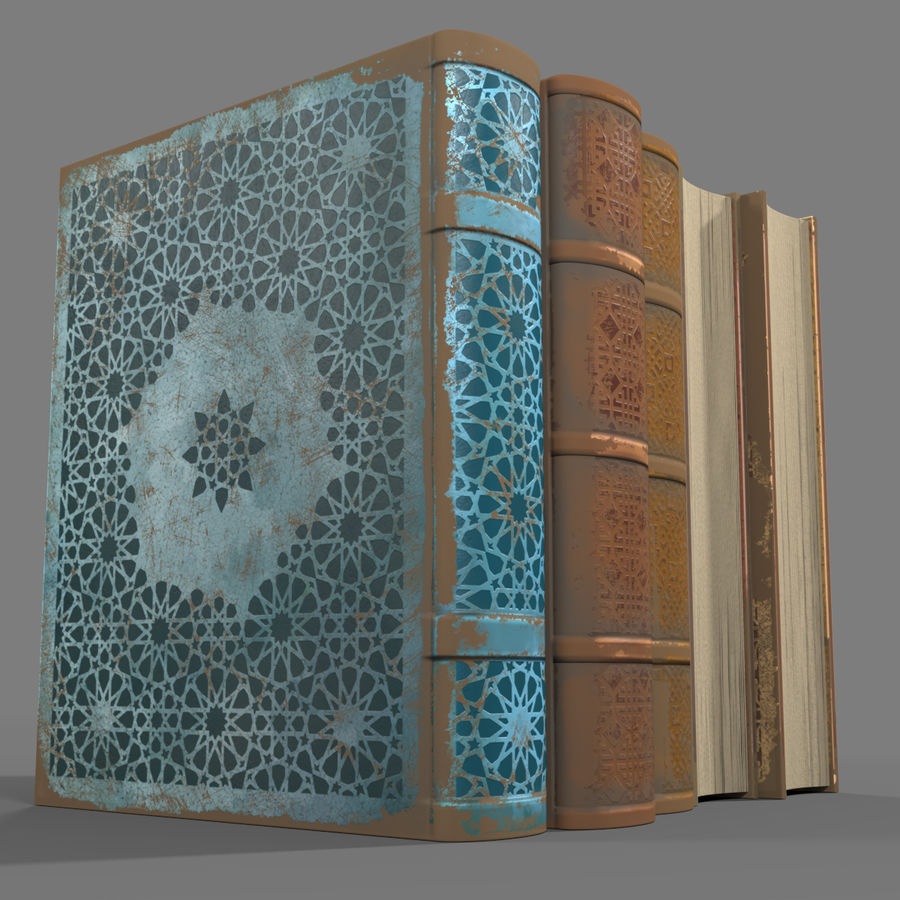 Arabian Books royalty-free 3d model - Preview no. 2