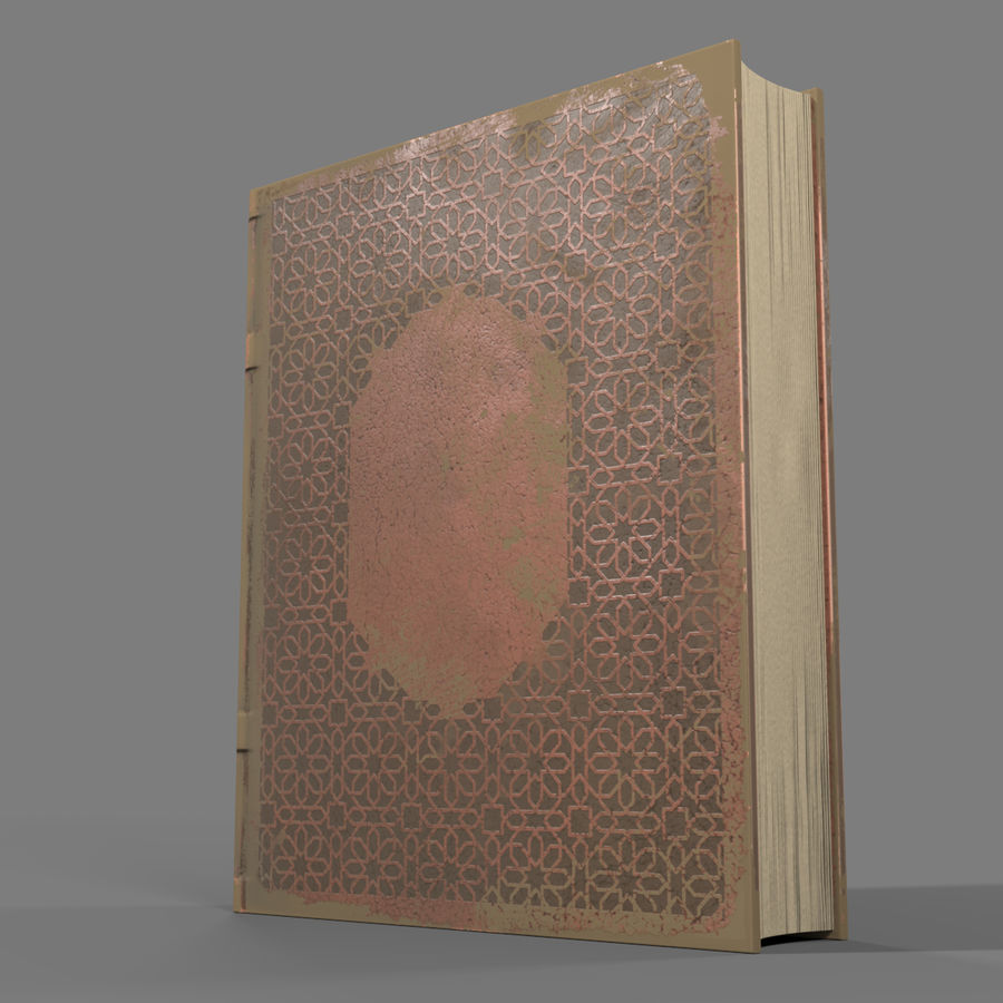 Arabian Books royalty-free 3d model - Preview no. 11