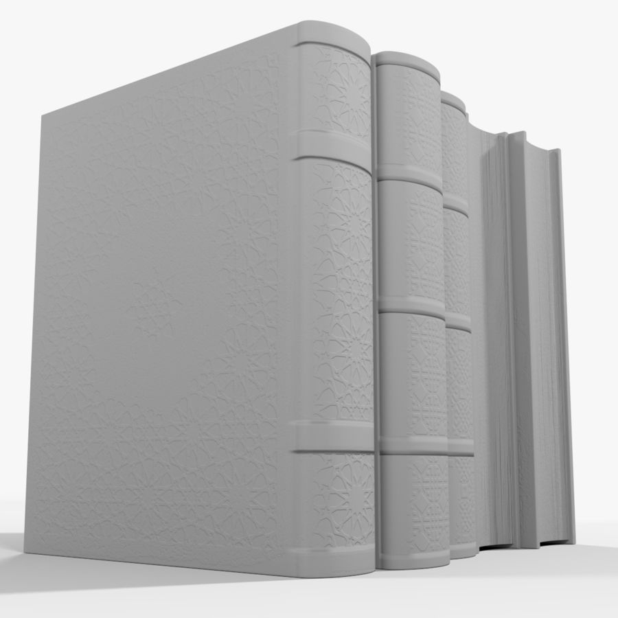 Arabian Books royalty-free 3d model - Preview no. 19