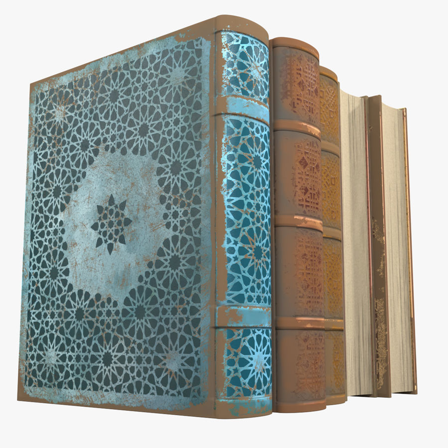 Arabian Books royalty-free 3d model - Preview no. 1
