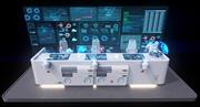 Painel de Comando Sci fi 2 3d model