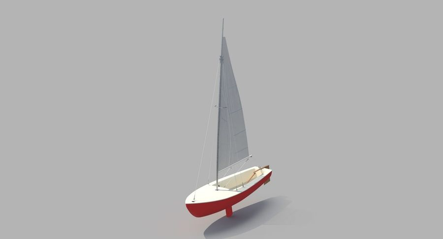 Sailboat royalty-free 3d model - Preview no. 3