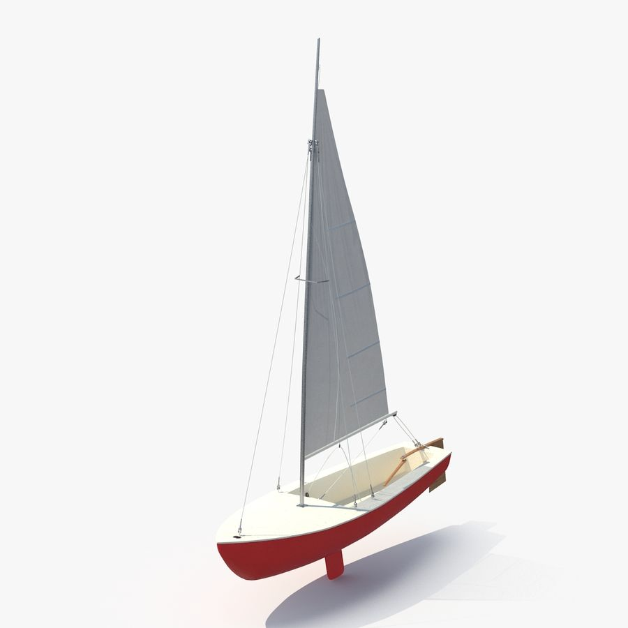 Sailboat royalty-free 3d model - Preview no. 1