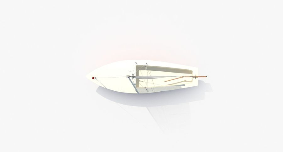Sailboat royalty-free 3d model - Preview no. 5