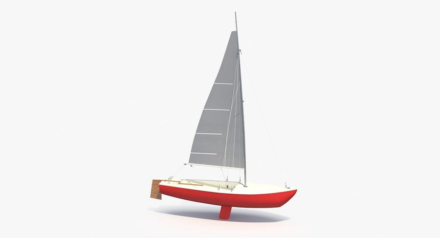 Sailboat royalty-free 3d model - Preview no. 10