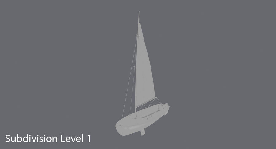 Sailboat royalty-free 3d model - Preview no. 14
