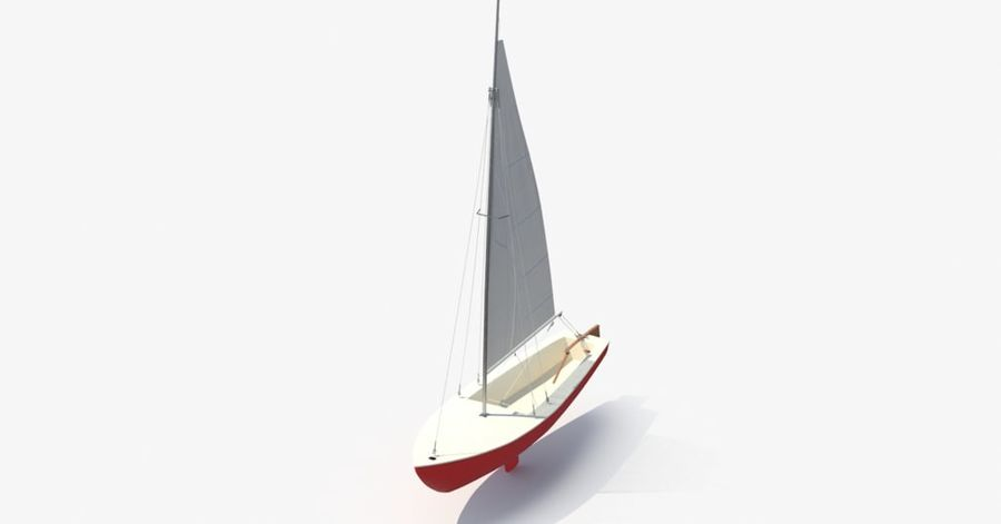 Sailboat royalty-free 3d model - Preview no. 12