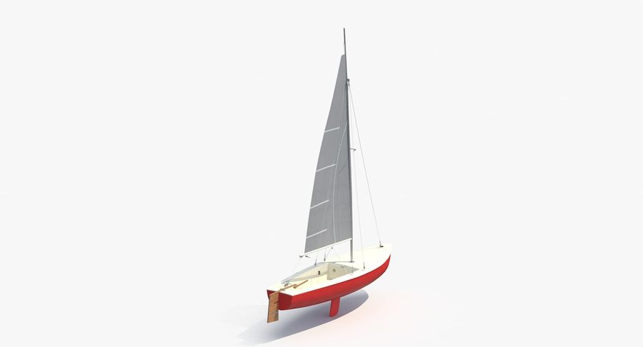 Sailboat royalty-free 3d model - Preview no. 6