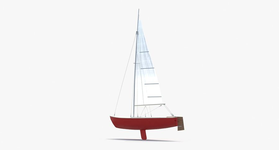 Sailboat royalty-free 3d model - Preview no. 8