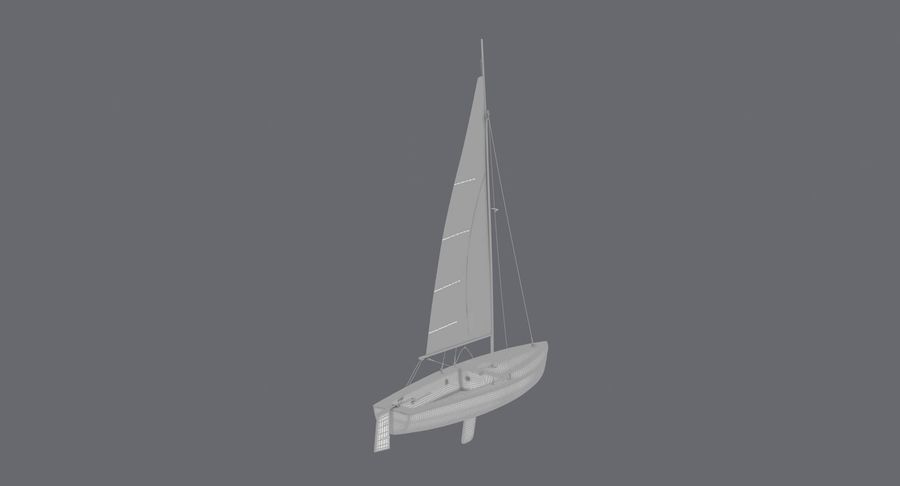 Sailboat royalty-free 3d model - Preview no. 20