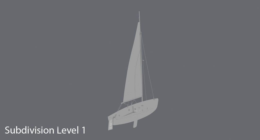 Sailboat royalty-free 3d model - Preview no. 16