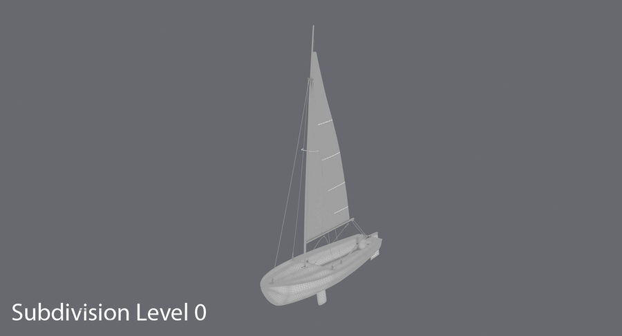 Sailboat royalty-free 3d model - Preview no. 13