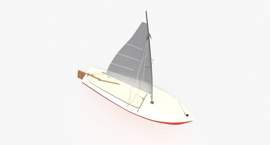 Sailboat royalty-free 3d model - Preview no. 7